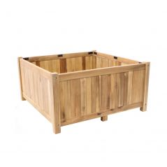 Hardwood planter Enjoyplanter Falco 80x80x40 cm