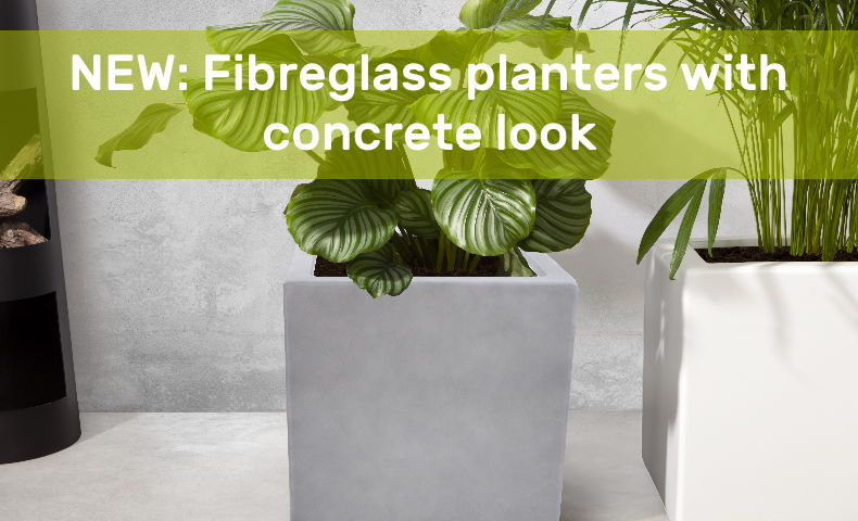 Planter with concrete look